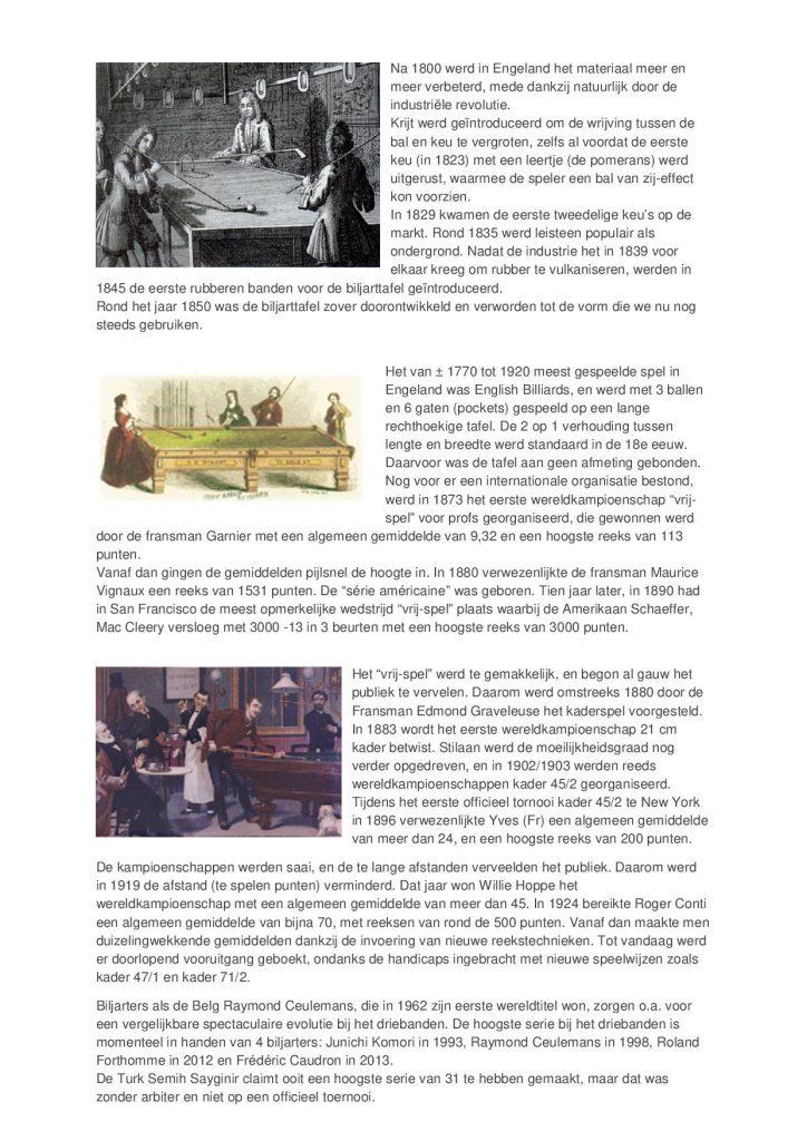 Geschiedenis van de Biljartsport - versie 02-20172
